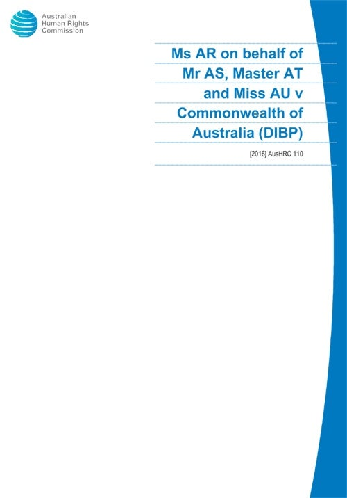Cover of [2016] AusHRC 110