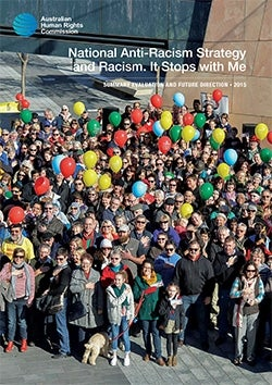 Racism it stops with me. Evaluation report 2015 cover