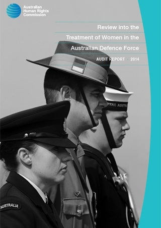Cover - Review into the Treatment of Women in the Australian Defence Force Audit Report 2014