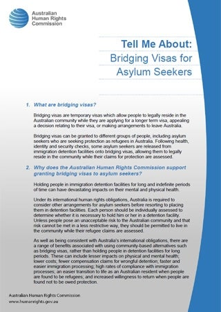 Cover - Tell Me About: Bridging Visas for Asylum Seekers