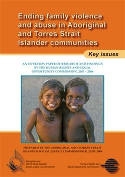 Ending Family Violence - cover photo of two happy Indigenous children by Heide Smith