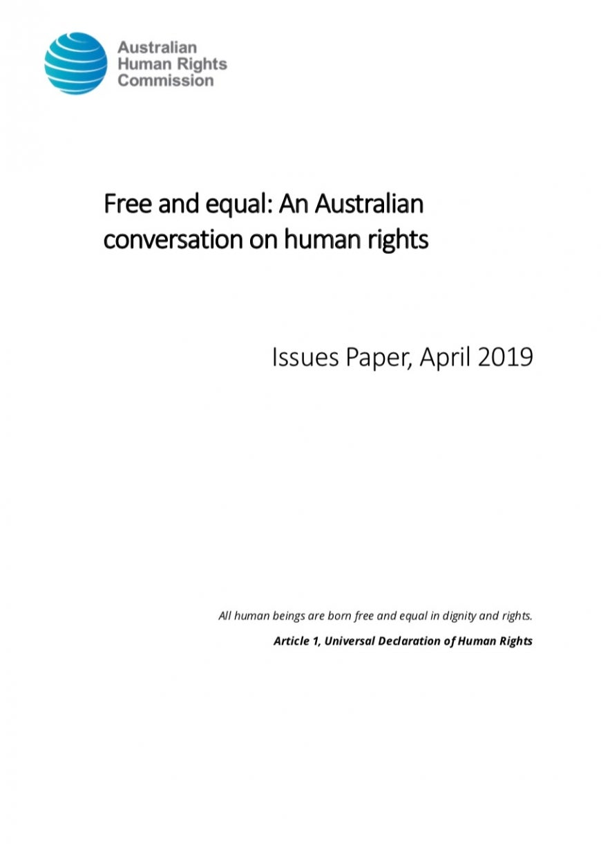 Free and Equal issues paper doc