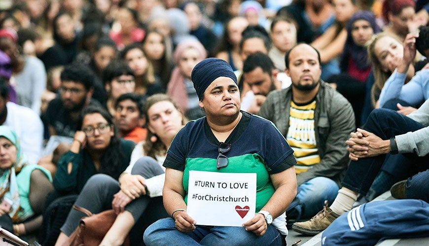 #turn to love For Christchurch. Image from Melbourne vigil