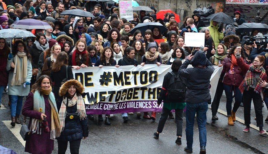 Paris MeToo march by  Jeanne Menjoulet