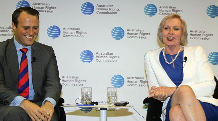 Commissioner Tim Wilson & Catherine McGregor from RightsTalk at the Commission