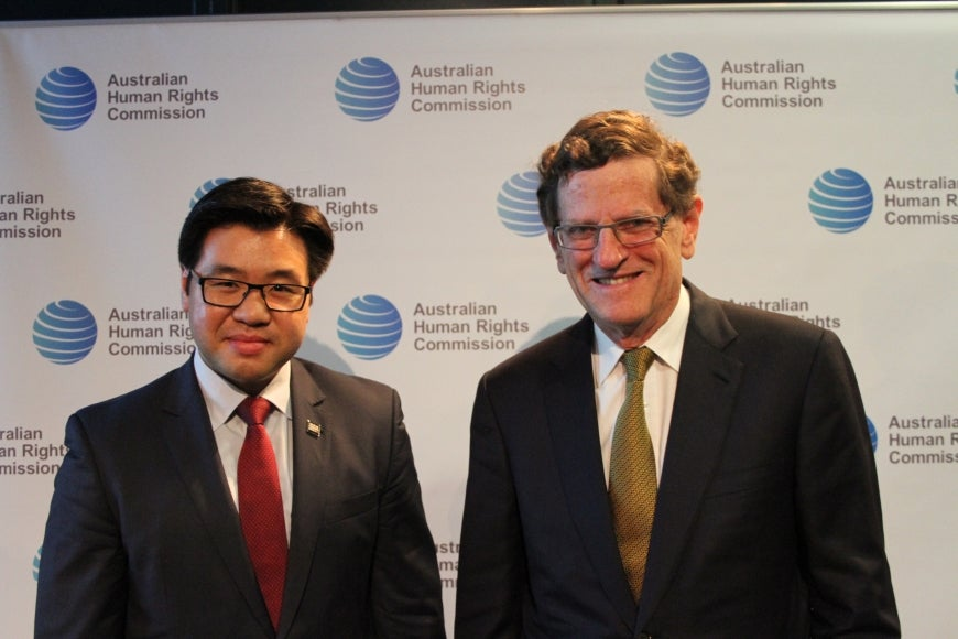 Race Discrimination Commissioner Dr Tim Soutphommasane and Chief Justice Robert French