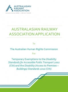 Australian Railway Association Application 2020