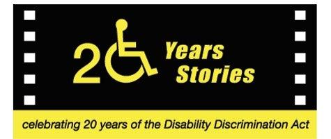 Logo: Twenty Years: Twenty Stories - celebrating 20 Years of the Disability Discrimination Act