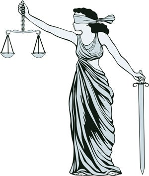 Image: Lady Justice with scales