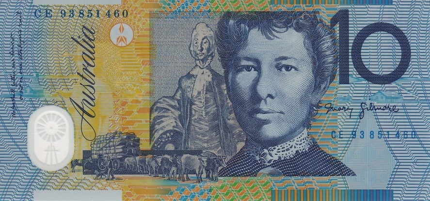 Dame Mary Gilmore on the $10 note