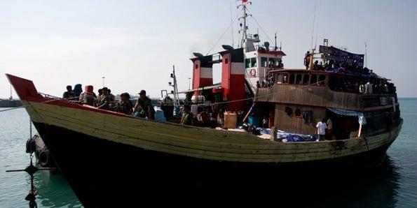 Stock photo of asylum seeker boat