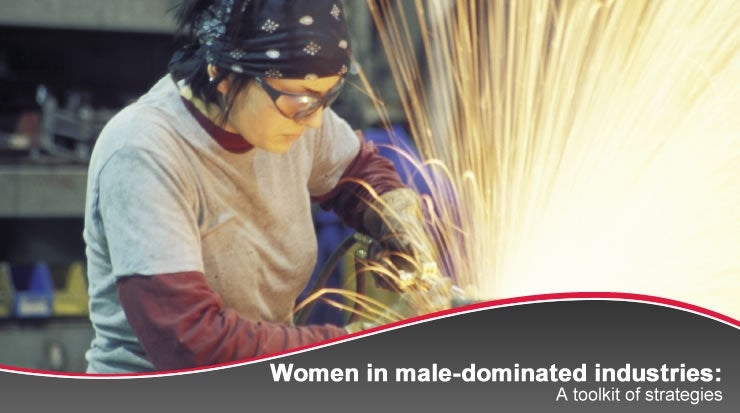 Banner: Women in male-dominated industries: A toolkit of strategies.
