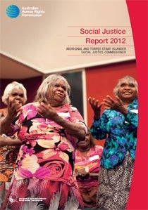 Photo: Cover of the 2012 Native Title report - Indigenous dancer