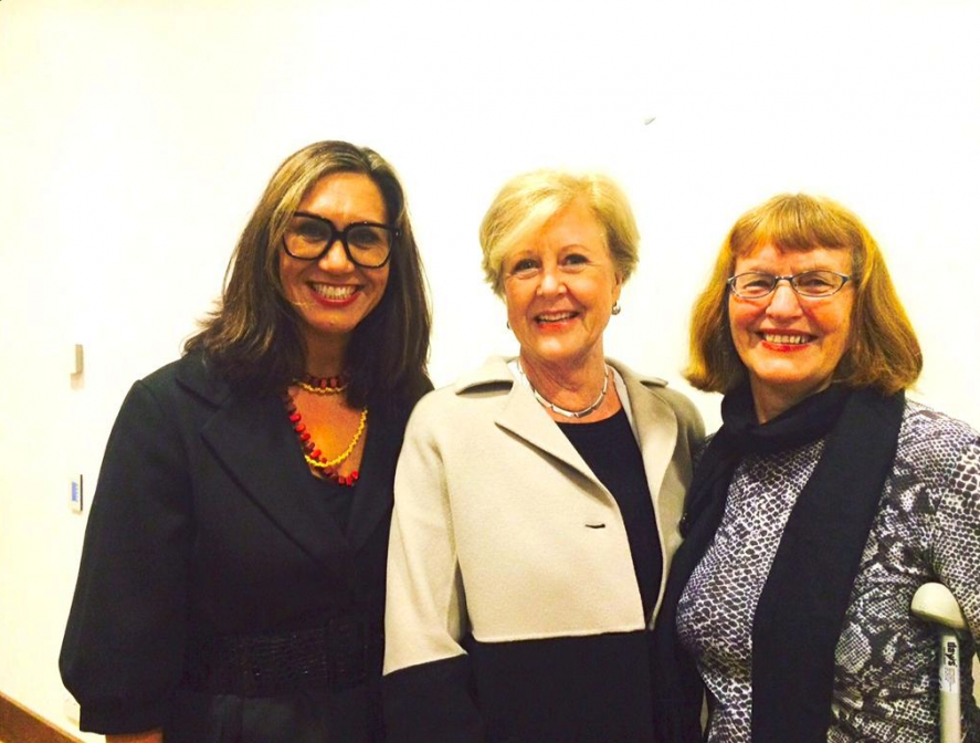 Gillian Triggs with 'The Intervention' editors Anita Heiss and Rosie Scott
