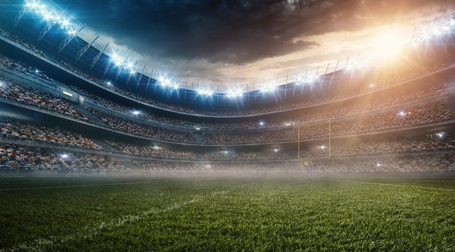 huge stadium full of people