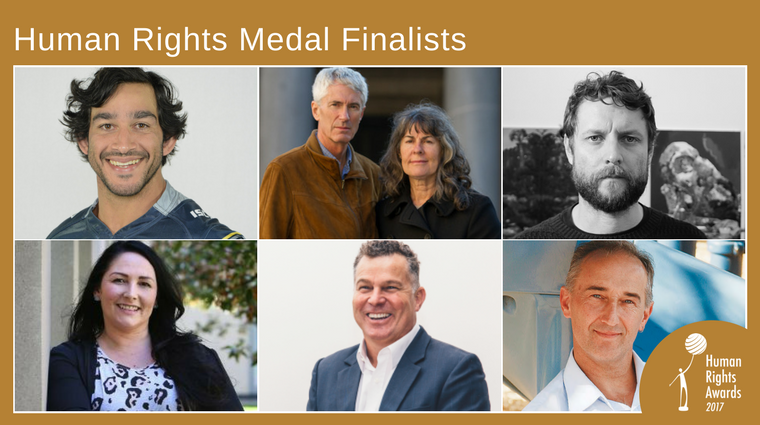 Human Rights Medal finalists 2017