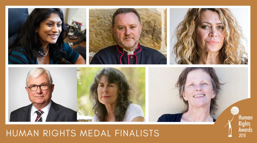 Composite of photos of 2018 Human Rights Medal finalists