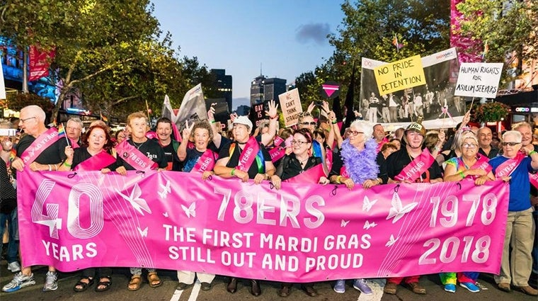 78ers at the 2018 Mardi Gras Parade. Photo by Jeffrey Feng