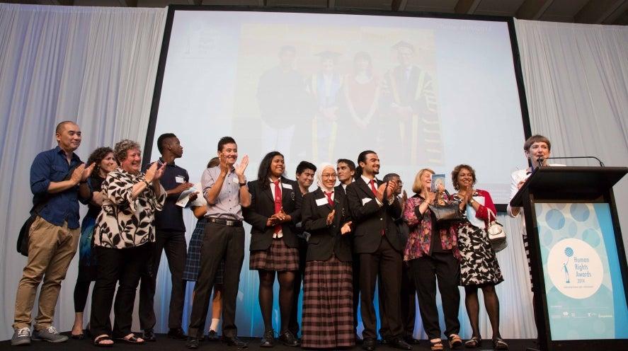 Dorothy Hoddinott AO winner of 2014 Human Rights Awards, photo by Brett Naseby