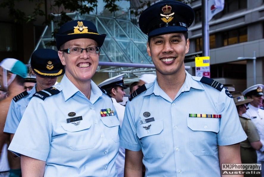 Australian Defence Force members at Mardi Gras.