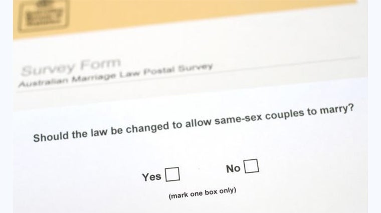 ABS marriage law postal survey