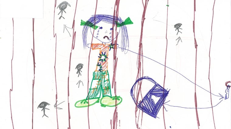 Drawing by child in immigration detention in Australia