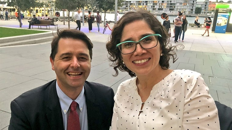 Disability Discrimination Commissioner Alastair McEwin with Special Rapporteur Catalina Devandas Aguilar at DDA25