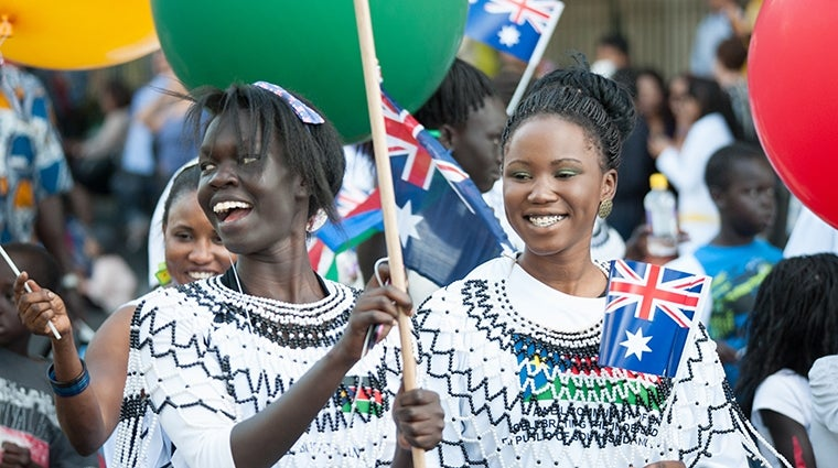 Australia Day Parade 2013 Aweil Community South Sudanese (170) image by Flickr Multicultural SA