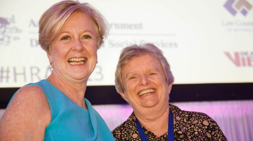 Gillian Triggs and Sister Claire Condon