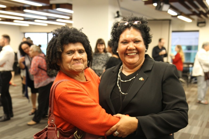 Commissioner June Oscar with Shireen Malamoo