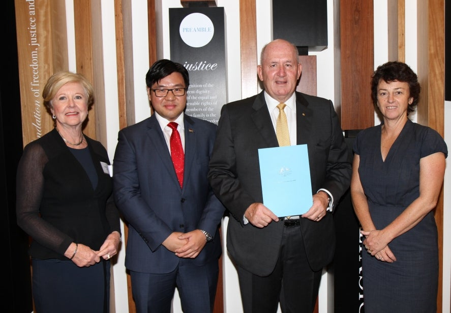 Australian Human Rights Commission President Professor Gillian Triggs; Race Discrimination Commissioner Dr Tim Soutphommasane; His Excellency General the Honourable Sir Peter Cosgrove AK MC; and New Zealand Race Relations Commissioner Dame Susan Devoy.