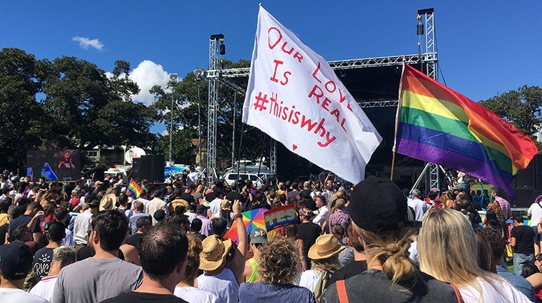 Marriage Equality result party in Sydney