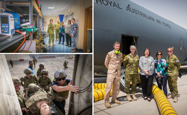 Image: Courtesy of Department of Defence - Composite image of Afghanistan trip