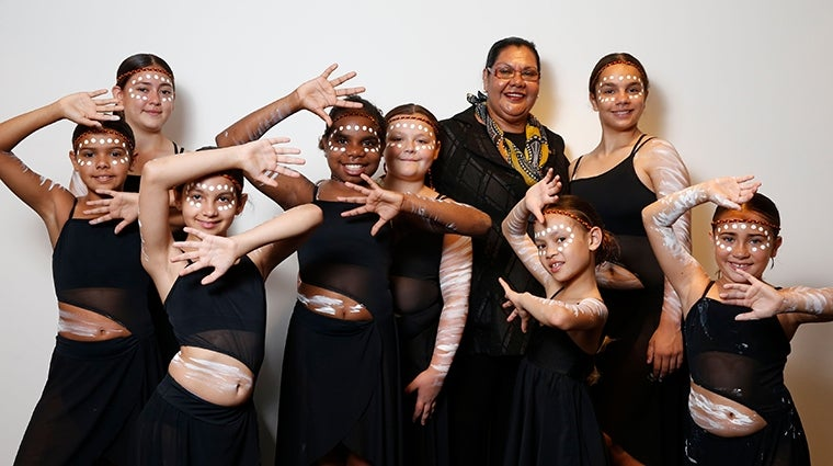 Commissioner June Oscar and the Redfern Dance Company