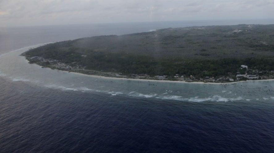 The Island of Nauru from the air