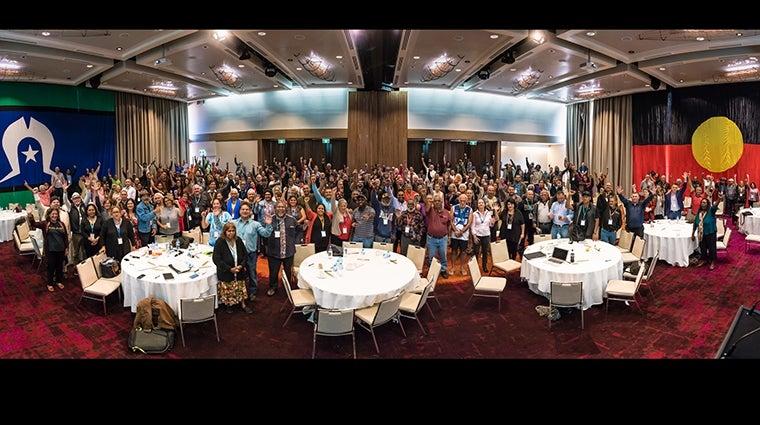 Uluru Convention group photo - courtesy Referendum Council