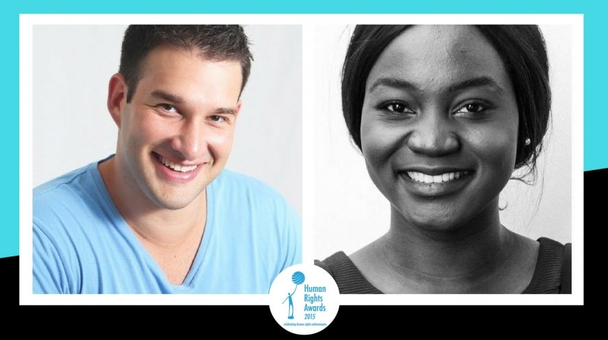 2015 Young People's Human Rights Medal finalists - Adam Schwartz and Prudence Melom