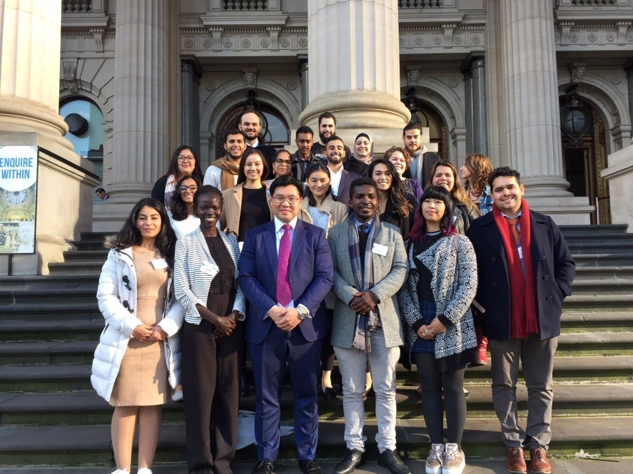 Young leaders with Tim Soutphommasane