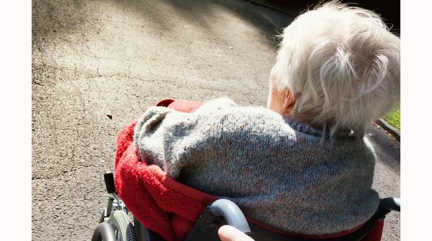 Older person in wheelchair