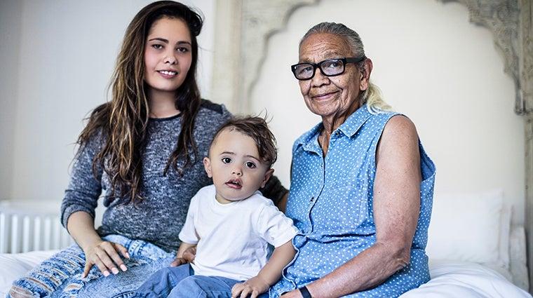 Multigenerational Aboriginal family - IStock photo