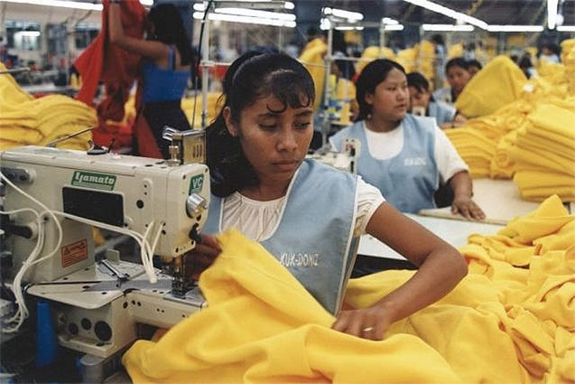 Female workers in a garment factory. Wikimedia Commons Marlssa Orton