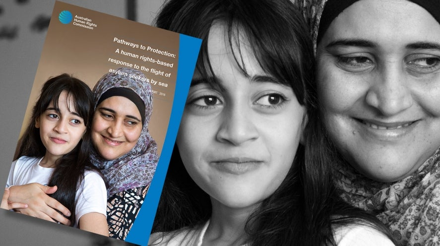 Pathways to protection cover - UNHCR photo of mother and daughter