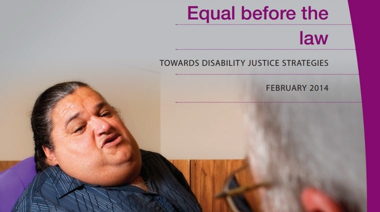 Cover - Equal Before the law: Towards Disability Justice Strategies