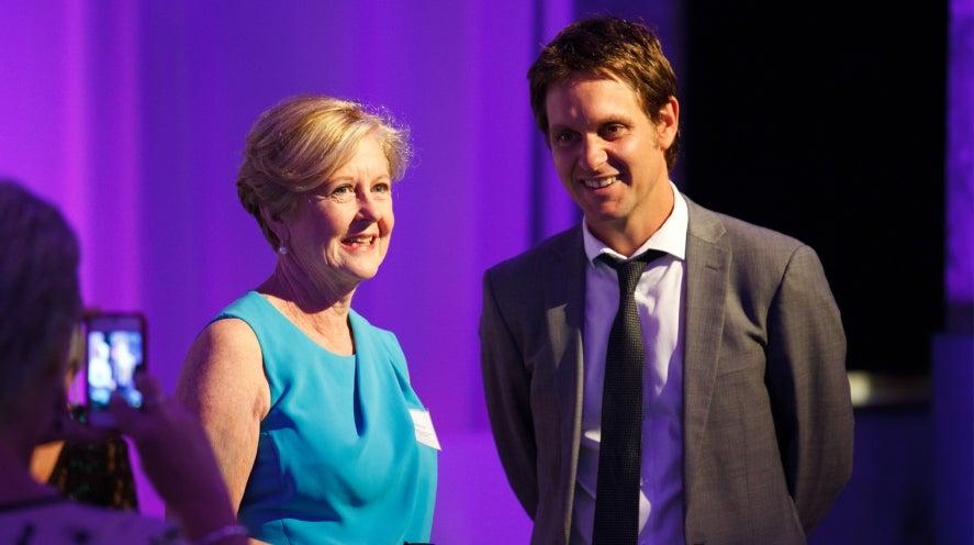 Gillian Triggs and Craig Reucassel at last years awards