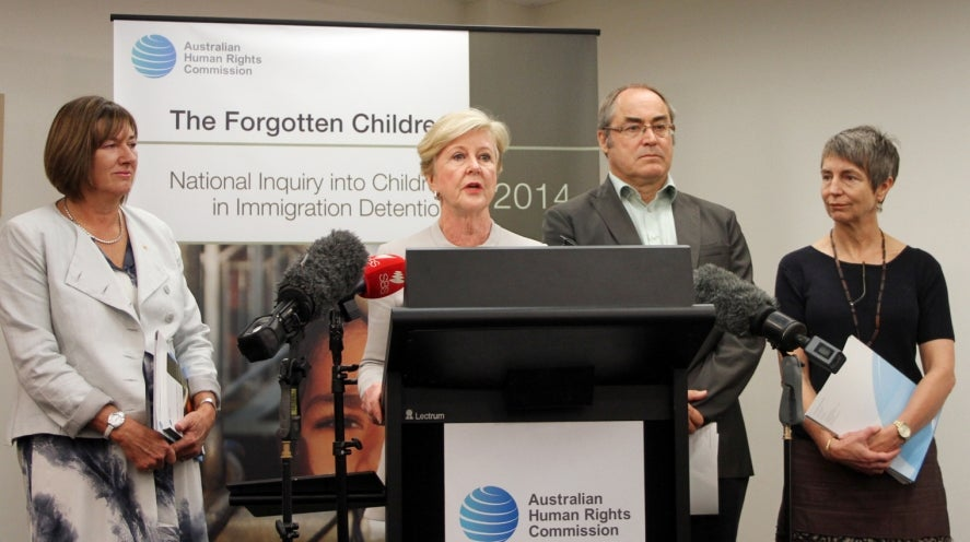 Children in Detention press conference