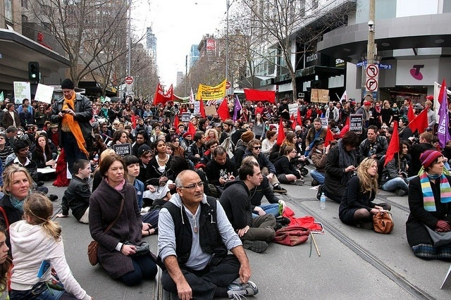 Sit down in Melbourne