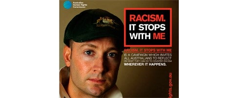 Michael Clarke - Racism. It Stops With Me banner