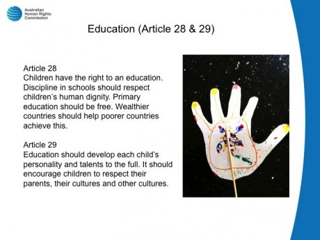 articles of the childrens rights convention Two major principles inform the various articles of the convention,  dom of expression and  education and the practice of children's rights in.