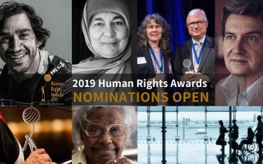 2019 Human Rights Awards Nomination Open banner