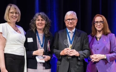 2019 Medal winners The Hon Peter McClellan AM QC and Chrissie Foster